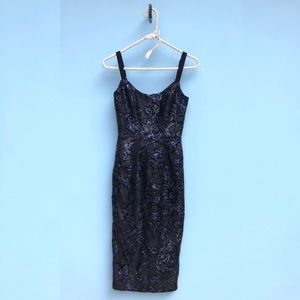 Dress the Population Sequined Lynda Midi Dress